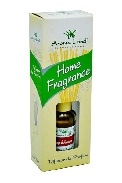 Difuzor de parfum Aroma Land cu betisoare Orange Cinnamon 30 ml